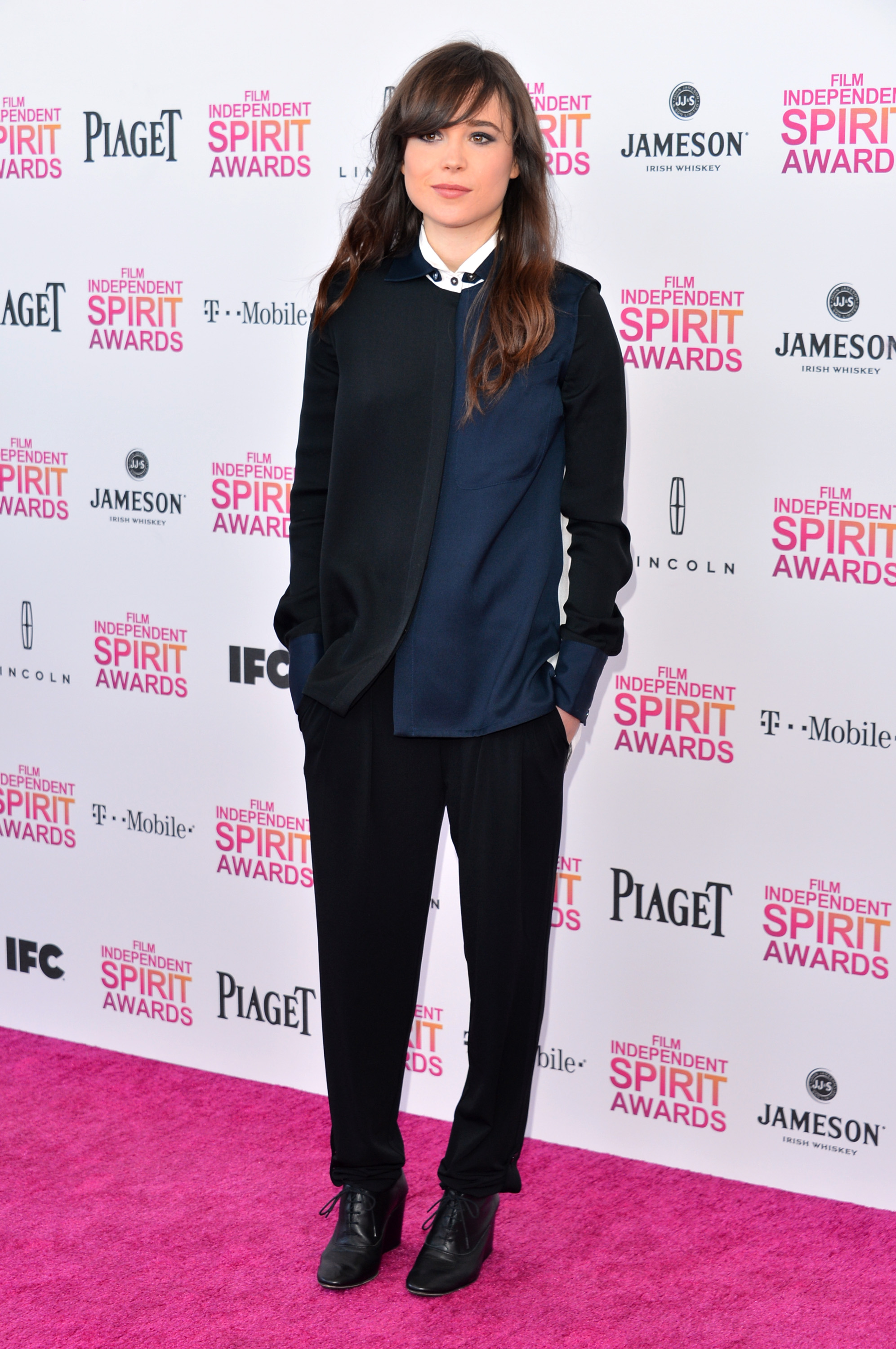Ellen Page on the red carpet at the Spirit Awards 2013.