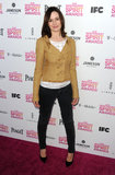 Emily Mortimer on the red carpet at the Spirit Awards 2013.