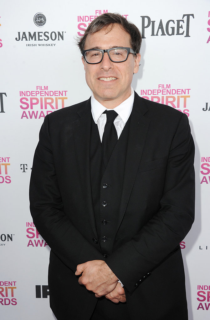 David O. Russell on the red carpet at the Spirit Awards 2013.