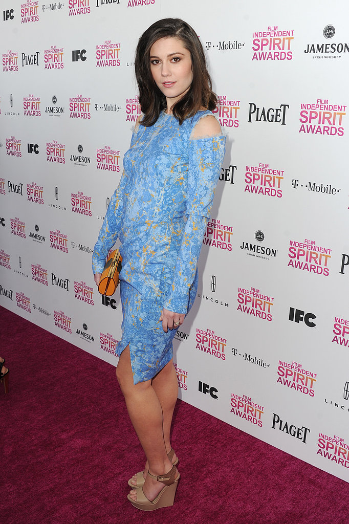 Mary Elizabeth Winstead on the red carpet at the Spirit Awards 2013.