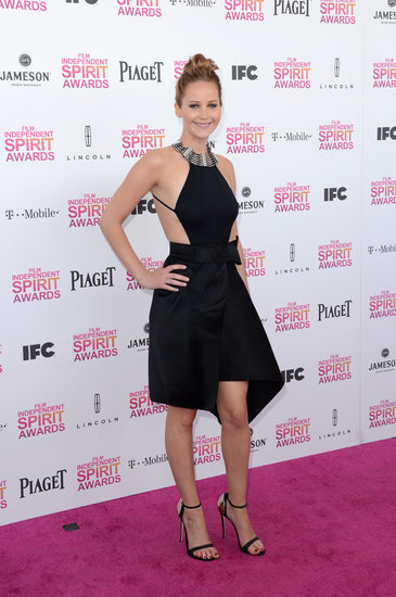 Jennifer Lawrence Goes Backless in Black at the Spirit Awards