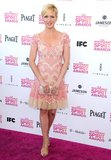 Brittany Snow complemented the Spirit Awards' pink carpet in a flirty pink-embellished dress by Naeem Khan. To polish off the girlie look, she accessorized with strappy nude Jimmy Choo sandals and a pearl-white clutch.