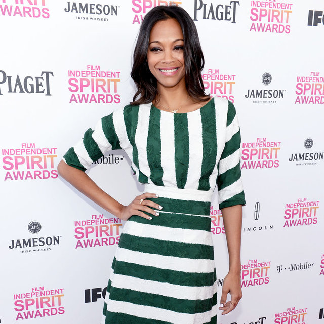 2013 Independent Spirit Awards Style: Zoe Saldana D&G Green