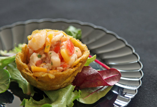 Fried Plantain Cups With Conch Ceviche