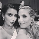 Kim Kardashian and Heidi Klum shared some girl time at the Oscars afterparties.   Source: Instagram user kimkardashian