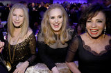 Barbra Streisand, Adele, and Shirley Bassey hung out at the Governors Ball after the Oscars.