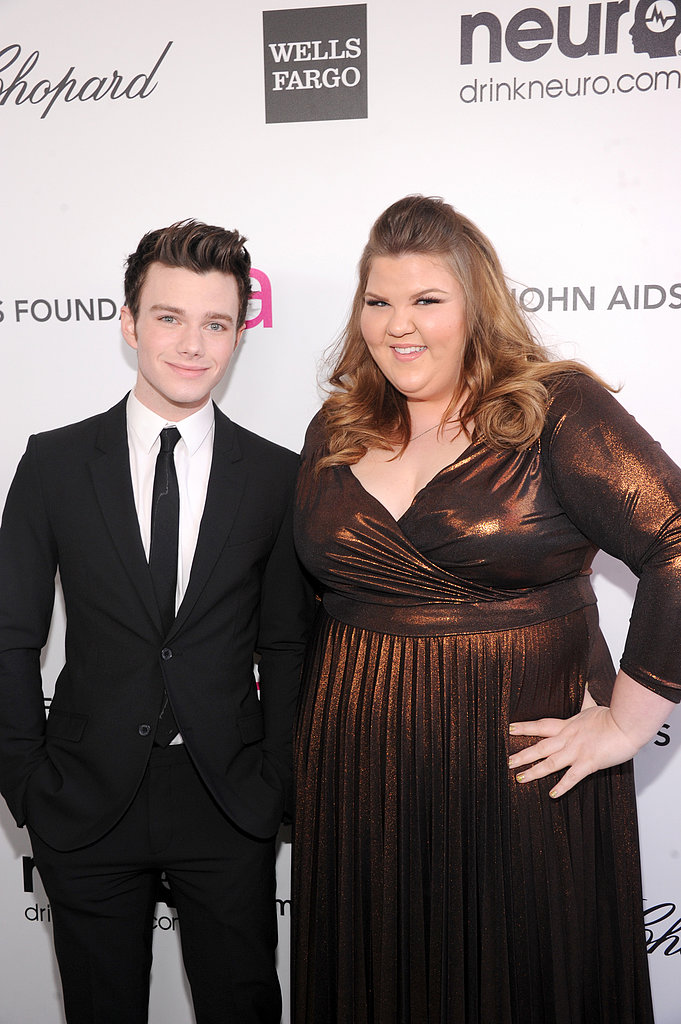 Chris Colfer and Ashley Fink
