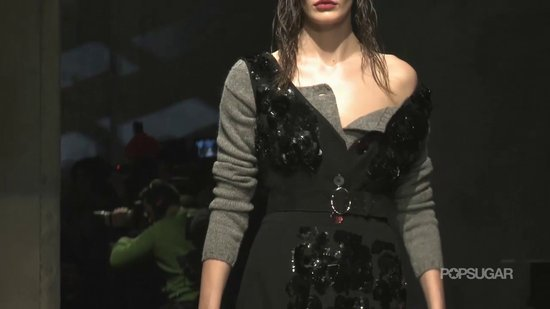 Adriana Lima Goes to the Dark Side at Prada's Fall '13 Show