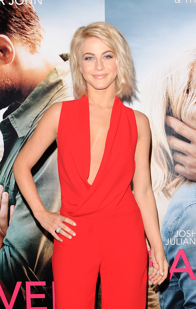 At a London photocall for Safe Haven in February, Julianne's look was neutral and natural with beachy waves.