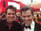 Andrew Rannells was starstruck when he met Jim Carrey. Source: Twitter user AndrewRannells