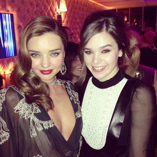 Hailee Steinfeld met up with Miranda Kerr at the Vanity Fair post-Oscars party. Source: Instagram user haileesteinfeld