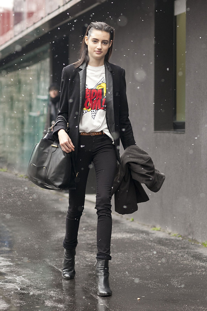 A comic-inspired tee provided the wow factor in this ensemble.