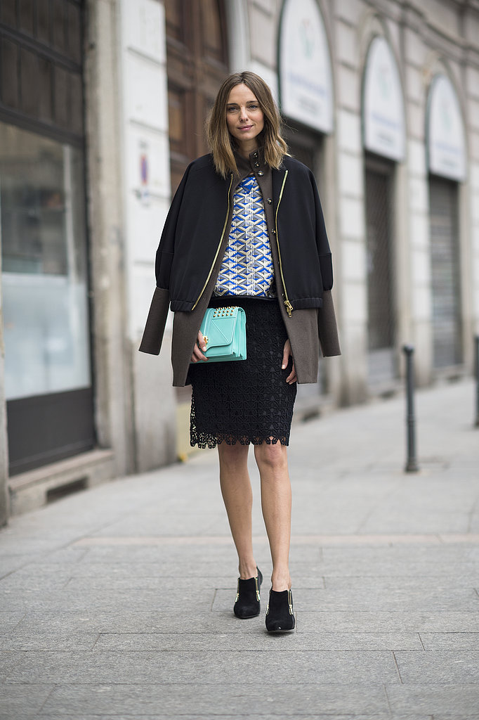 A skilled mix of texture, print, color, and proportion. Source: Le 21ème | Adam Katz Sinding