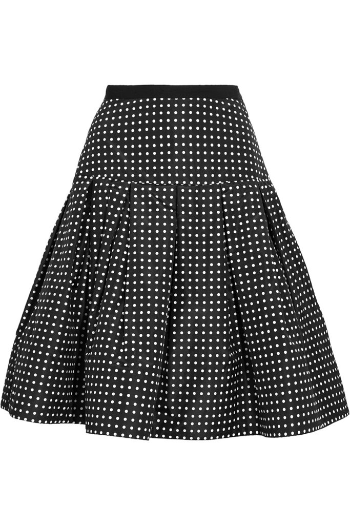 Oscar de la Renta for The Outnet polka-dot silk-taffeta skirt