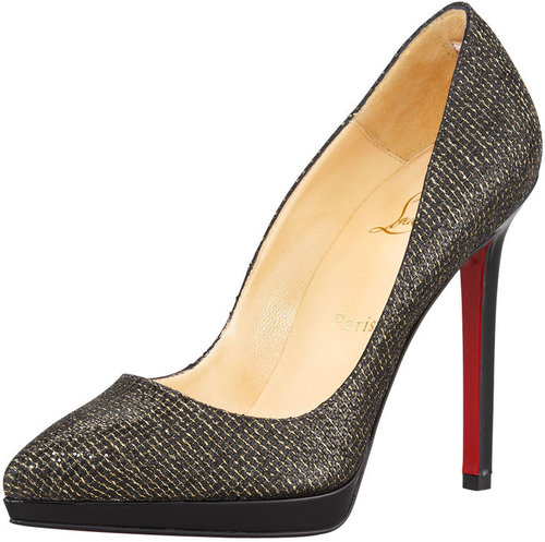 Christian Louboutin Pigalle Glittered Red Sole Pump