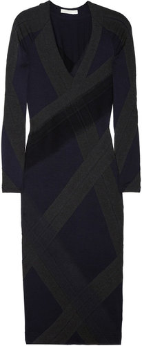 Donna Karan Paneled stretch-jersey dress