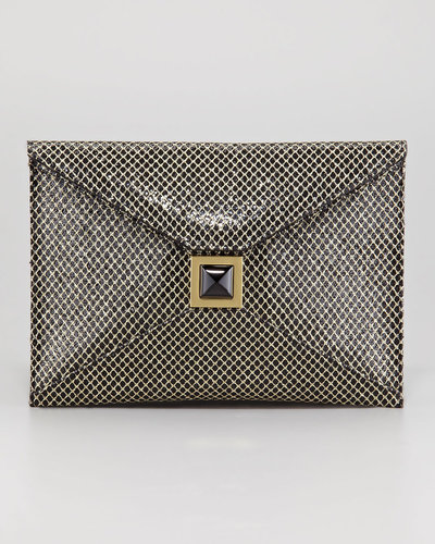 Kara Ross Prunella Diamond-Glitter Clutch Bag