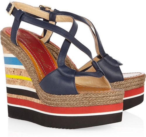 Paloma Barceló Formentera leather wedge sandals