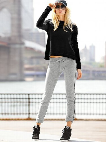 French Terry Tuxedo Pant
