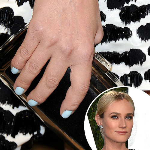 Diane Kruger's Baby Blue Nail Polish at Vanity Fair Party