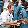 Cute Prince Harry Pictures in Africa