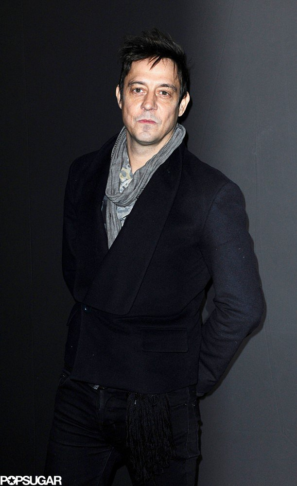 Jamie Hince arrived at the Etam lingerie show on Tuesday night.