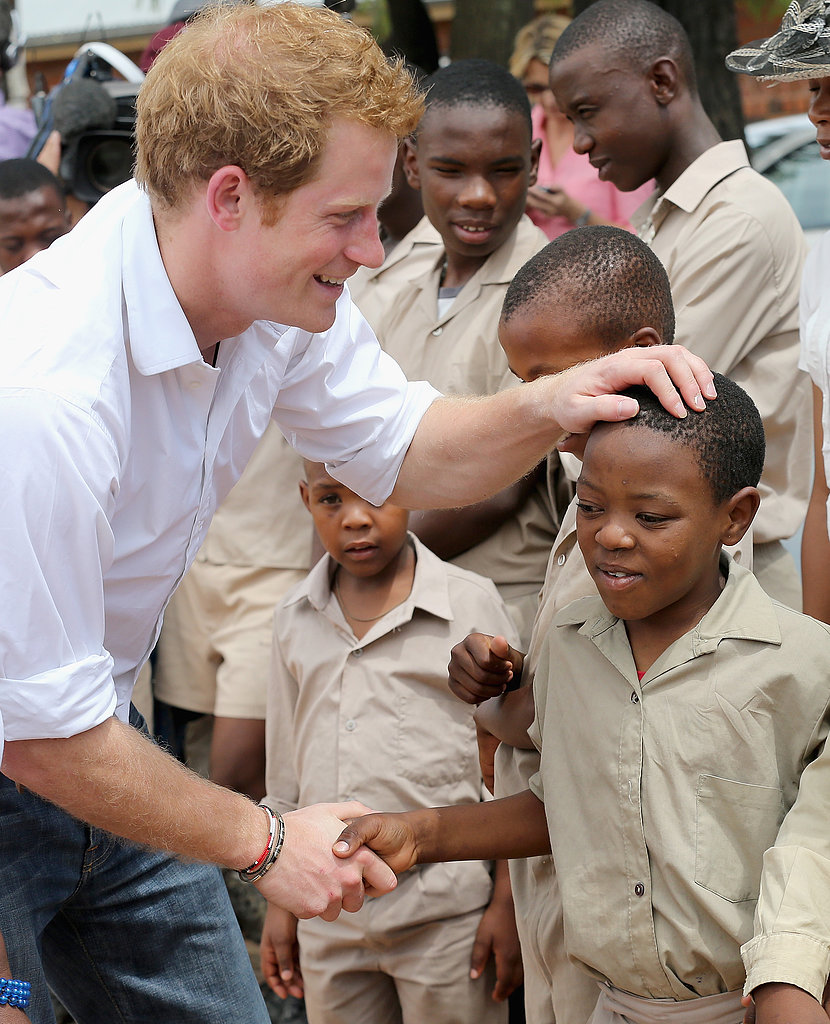 Prince Harry Visits Lesotho, Africa