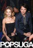 Russian model Natalia Vodianova sat with Louis Vuitton's Antoine Arnault at the Etam lingerie show.