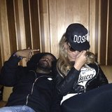 Mariah Carey and Jermaine Dupri posed together in the recording studio. Source: Twitter user Mr_Dupri