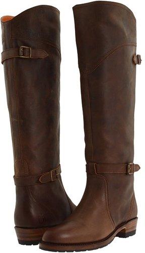 Frye - Dorado Lug Riding (Dark Brown Brush Off) - Footwear