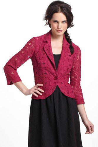 Laced Delphinium Blazer