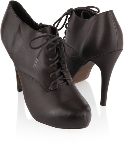 Leatherette Oxford Bootie