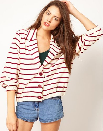 American Apparel Stripe Jacket