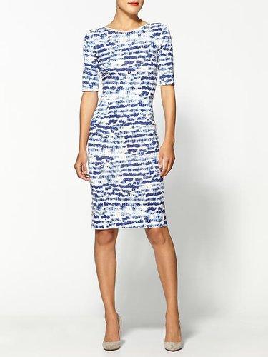 Sam & Lavi Vera Brush Stroke Print Dress