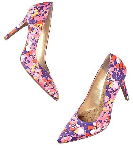 Petra Multicolored Floral Print Pumps