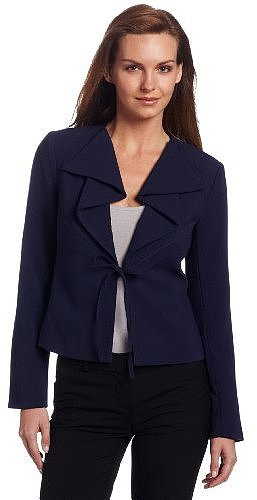 Mac & Jac Women's Tie Front Jacket