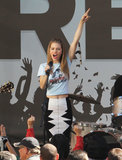 AnnaLynne McCord rocked out on stage for a 90210 scene in LA on Wednesday.