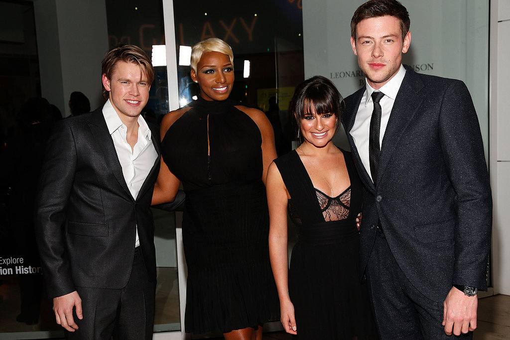 Lea and Cory Join Up With the Glee Cast to Celebrate Ryan Murphy
