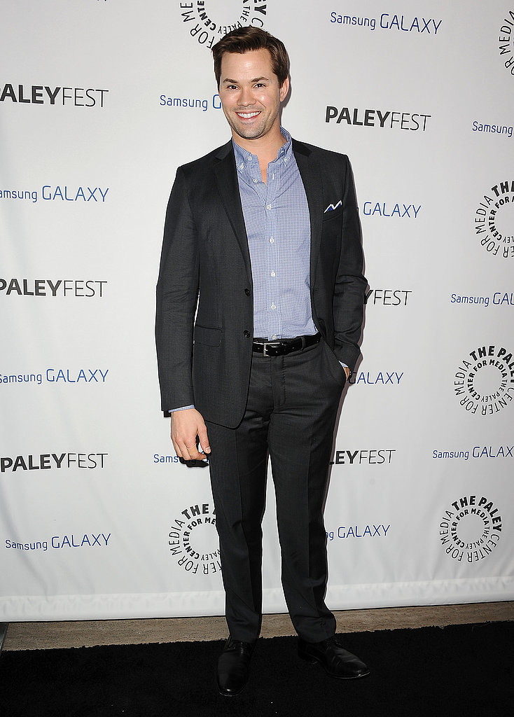 Andrew Rannells looked dapper in a suit.