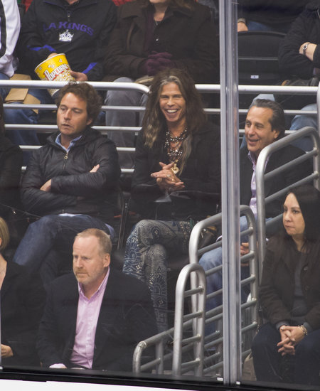 Steven Tyler attended a Kings hockey game on Wednesday in LA.