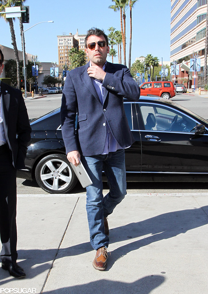 Ben Affleck revealed his clean-shaven face.