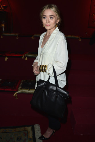 Ashley Olsen arrived at the Paris H&M for Fashion Week in February.