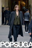 Karlie Kloss mingled with the fashion crowd during Paris Fashion Week on Wednesday.