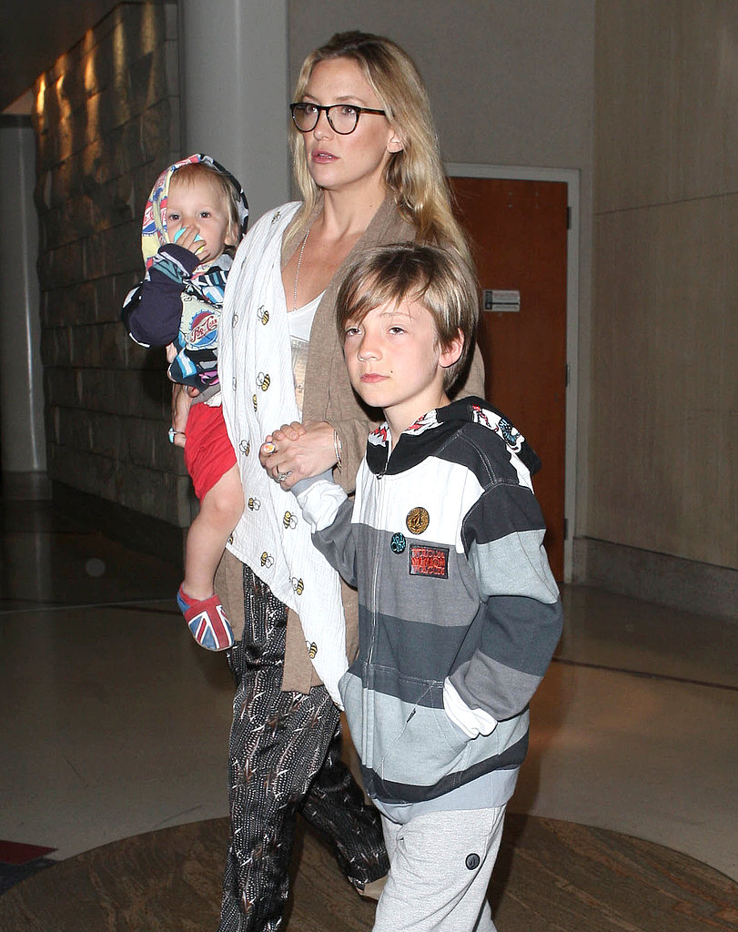 Kate Hudson walked through LAX with her boys.
