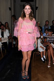 Olivia looked pretty in pink, wearing a frothy Valentino confection for the designer's Haute Couture show in July 2012.
