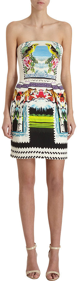 All this Mary Katrantzou Alias Strapless Dress ($2,295) needs is a pair of simple (yet stunning) heels.