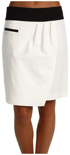 Anne Klein - Double Weave Faux Wrap Skirt