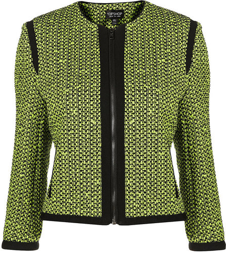 Co-ord Fluro Boucle Jacket