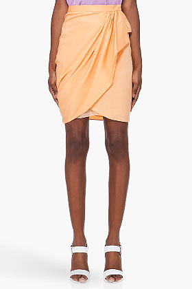 3.1 PHILLIP LIM Faded Orange Wrap Skirt