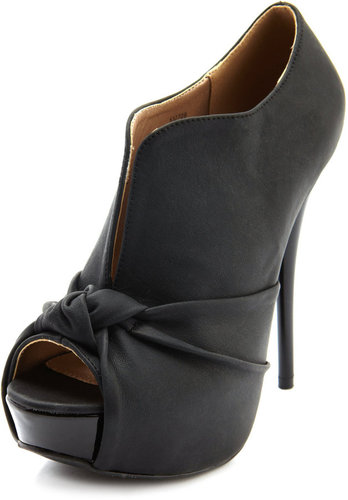Knot Front Leatherette Bootie